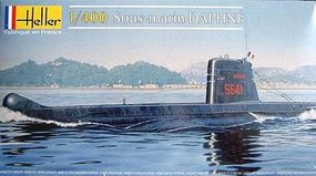 Heller Daphne French Patrol Submarine Plastic Model Military Ship Kit 1/400 Scale #81069