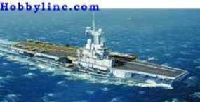 Heller Charles De Gaulle French Aircraft Carrier Plastic Model Military Ship 1/400 Scale #81072