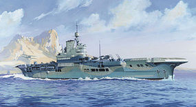 Heller HMS Illustrious British Aircraft Carrier Plastic Model Military Ship Kit 1/400 Scale #81089