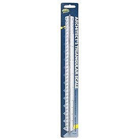 Helix Graphic Art Supplies 12'' Architect's Triangular Scale Plastic Ruler