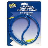 Helix-Art 24/60cm Graduated Flexible Curve Ruler