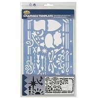 Helix-Art Graphic Shapes & Symbols Plastic Template