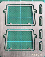 Highlight 1/24-1/25 VW Type 2 Safari Style Windshield Frames (2) for HSG