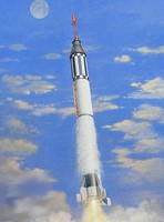 Horizon 1/72 Mercury Spacecraft w/Redstone Booster