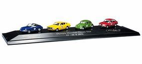 Herpa 1972 Olympics Tour Auto Set - Assembled - 4 Vehicles HO Scale Model Railroad Vehicle #101882