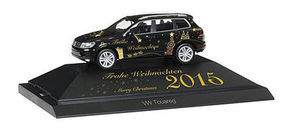 Herpa Volkswagen Touareg SUV Christmas 2015 and Display Base HO Scale Model Railroad Vehicle #101950