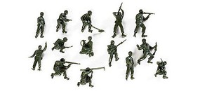 Herpa US Combat Troops (12) HO Scale Model Railroad Figure #117