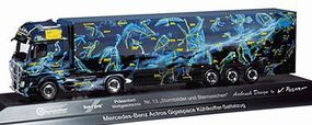 Herpa Mercedes Actros Gigaspace Semi w/Reefer Trailer HO Scale Model Railroad Vehicle #121408