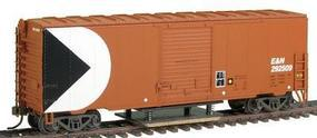 Herpa 40 Boxcar w/Track Cleaner - Esquimalt & Nanaimo (red) HO Scale Model Train Freight Car #13130