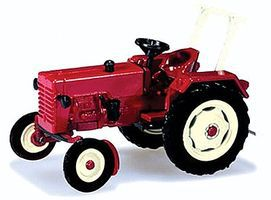 Herpa McCormick D326 Farm Tractor - Assembled - Red HO Scale Model Railroad Vehicle #159333