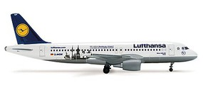 Herpa Airbus 320 Lufthansa 100 - 1/500 Scale