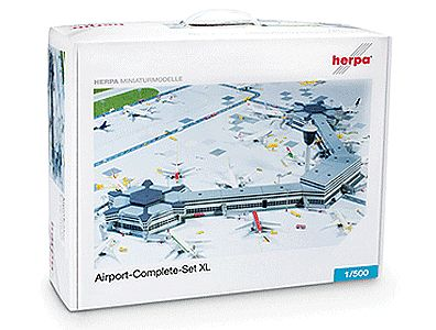 Herpa Models Complete Modern Airport Set -- Plastic Model Diorama -- #520997