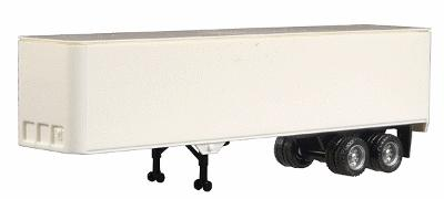Herpa Models Semi Trailer (No Tractor) - 40' Dry Box Van -- HO Scale Model Railroad Vehicle -- #5272