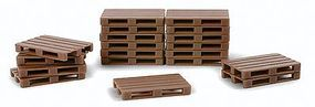 Herpa Pallets - pkg(50) HO Scale Model Railroad Building Accessory #52900