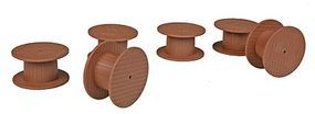 Herpa Wooden Cable Spools - pkg(6) Model Railroad Scratch Supply #5438