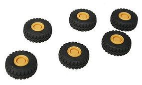 Herpa Loader Tires & Hubs - Approximately 6 Scale Diameter HO Scale Model Railroad Vehicle #5439