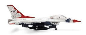 Herpa F-16 C Fighting Falcon Fighter Jet Thunderbird Diecast Model Airplane 1/200 Scale #552462