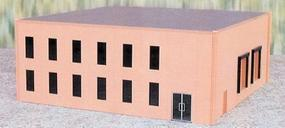 Herpa Office Building (Plastic Kit) - Sand HO Scale Model Railroad Building #6324