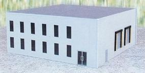 Herpa Office Building - Kit (Plastic) - Gray HO Scale Model Railroad Building #6325