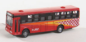 Herpa Bus Type 2 red with Light N Scale Model Railroad Vehicle #63667