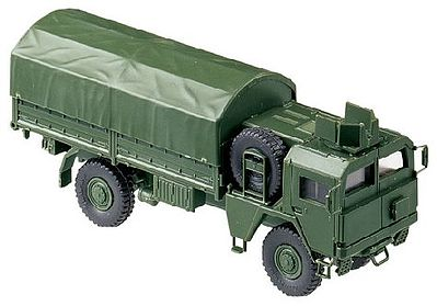Herpa Models MAN 451/461 German Armored Truck w/Canvas-Type Cover -- HO Scale Model Railroad Vehicle -- #703
