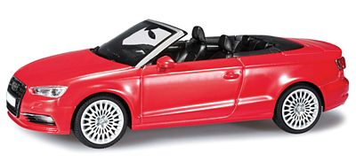 Herpa Models Audi A3 Convertible Red -- Diecast Model Car -- 1/43 Scale -- #70805