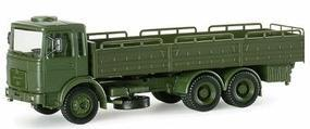 Herpa MAN LKW 10-Ton 6x4 German Army Cargo Truck HO Scale Model Railroad Vehicle #740005