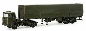 Herpa MAN F8 15-Ton German Army Tractor Trailer HO Scale Model Railroad Vehicle #740050