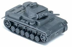 Herpa Former German Army WWII Medium Tank Panzer III HO Scale Model Railroad Vehicle #740401