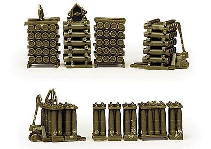 Herpa Models Artillery Shells on Pallets -- HO Scale Model Railroad Vehicle -- #742009