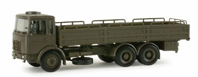 Herpa Models MAN 10T Stake Body Army Truck -- HO Scale Model Railroad Vehicle -- #742740