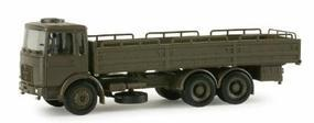 Herpa MAN 10T Stake Body Army Truck HO Scale Model Railroad Vehicle #742740