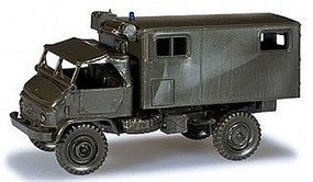 Herpa Unimog S404 Ambulance Truck HO Scale Model Railroad Vehicle #743907