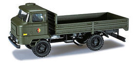 Herpa Iron Pig East Ifa L60 German Army Flatbed Truck HO Scale Model Railroad Vehicle #744201