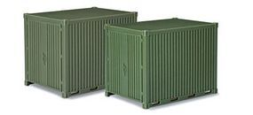 Herpa 10 Utility Container 2-Pack Green (2) HO Scale Model Railroad Vehicle #744713