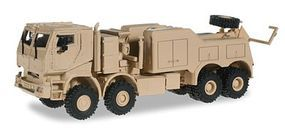 Herpa Mercedes-Benz Actros Armored Recovery Truck Beige HO Scale Model Railroad Vehicle #744904