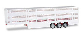 Herpa Cattle Trailer Various Standard Colors HO Scale Model Railroad Vehicle #76334
