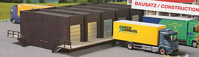 Herpa Models Warehouse Front with 5 Docks Kit -- HO Scale Model Railroad Vehicle -- #76708