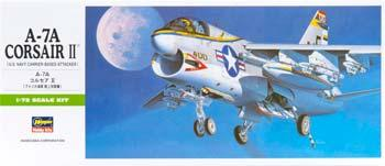 Hasegawa A7A Corsair II Aircraft -- Plastic Model Airplane Kit -- 1/72 Scale -- #00238