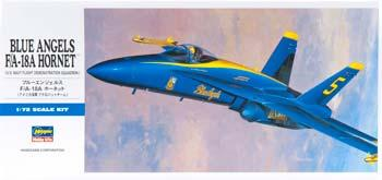 Hasegawa F/A18A Blue Angels Aircraft -- Plastic Model Airplane Kit -- 1/72 Scale -- #00440