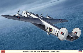 Hasegawa B-24 Liberator Mk.III/V Coastal Command Plastic Model Airplane Kit 1/72 Scale #02241