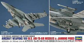 Hasegawa 1/72 US Aircraft Weapons VIII- Missiles & Pods