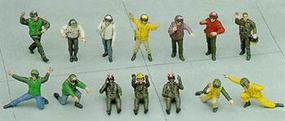 Hasegawa U.S. Navy Pilot/Deck Crew Set A Plastic Model Military Figure 1/48 Scale #36006