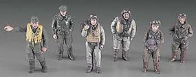 Hasegawa WWII Pilot Figure Set Plastic Model Military Figure Kit 1/48 Scale #36107