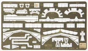 Hasegawa Photo Etch Detail Set IJN Battleship Mutsu Plastic Model Ship Accessory 1/350 Scale #40068