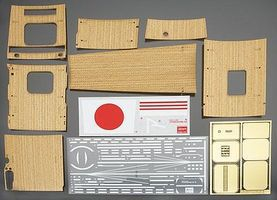 Hasegawa PE Parts & Wooden Deck IJN Carrier Akagi Plastic Model Ship Accessory 1/350 #72125