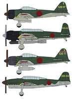 Hasegawa Japnaese Navy Carrier Based Aircraft Set Plastic Model Airplane Kit 1/350 Scale #72162