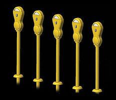 Hi-Tech HO Yellow Parking Meters (14)
