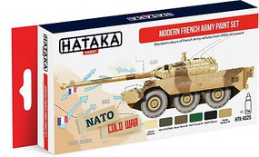 Hataka Red Line (Airbrush-Dedicated)- Modern French Army Vehicles 1950s-Present Paint Set (6 Colors) 17ml Bottles