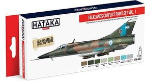 Hataka Red Line (Airbrush-Dedicated)- Falklands Conflict Argentinean AF Vol.1 Paint Set (8 Colors) 17ml Bottles